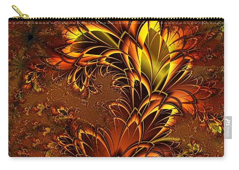 Digital Art Carry-all Pouch featuring the digital art Autumnal Glow by Amanda Moore