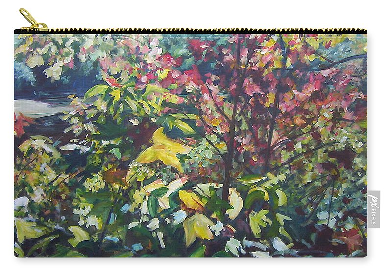Autumn Landscape Carry-all Pouch featuring the painting Autumn's View by Sheila Holland