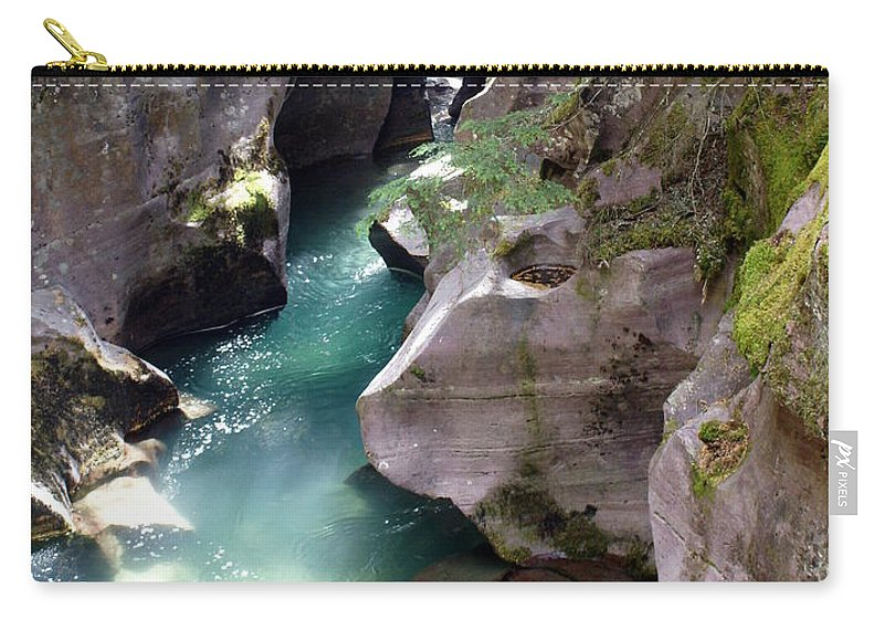 Glacier National Park Carry-all Pouch featuring the photograph Avalanche Creek Glacier National Park by Marty Koch
