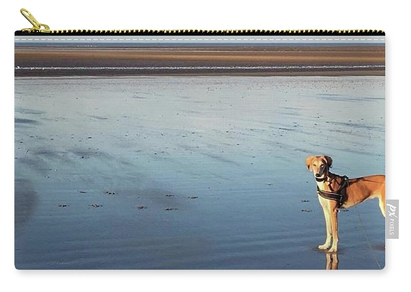 Dogsofinstagram Carry-all Pouch featuring the photograph Ava's Last Walk On Brancaster Beach by John Edwards