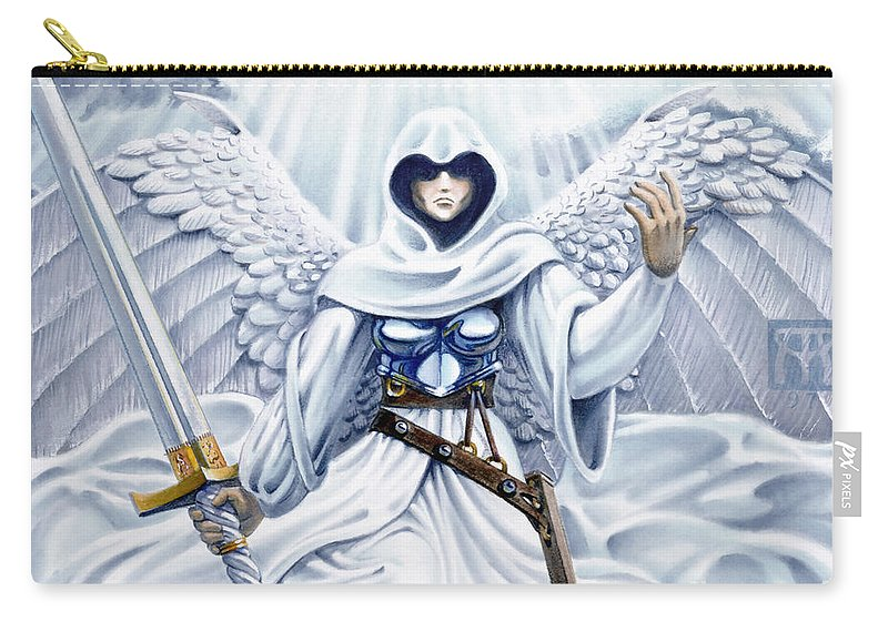 Angel Carry-all Pouch featuring the painting Avenging Angel by Melissa A Benson