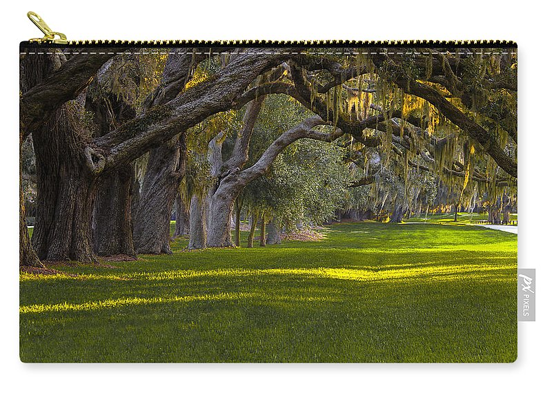 Reid Callaway Ave Of Oaks Carry-all Pouch featuring the photograph Avenue Of Oaks 2 St Simons Island Ga by Reid Callaway