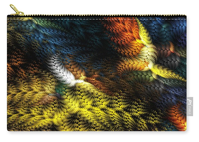 Digital Painting Carry-all Pouch featuring the digital art Avian Dreams 2 by David Lane