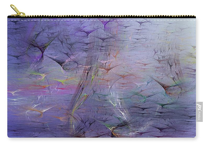 Digital Painting Carry-all Pouch featuring the digital art Avian Dreams 3 by David Lane