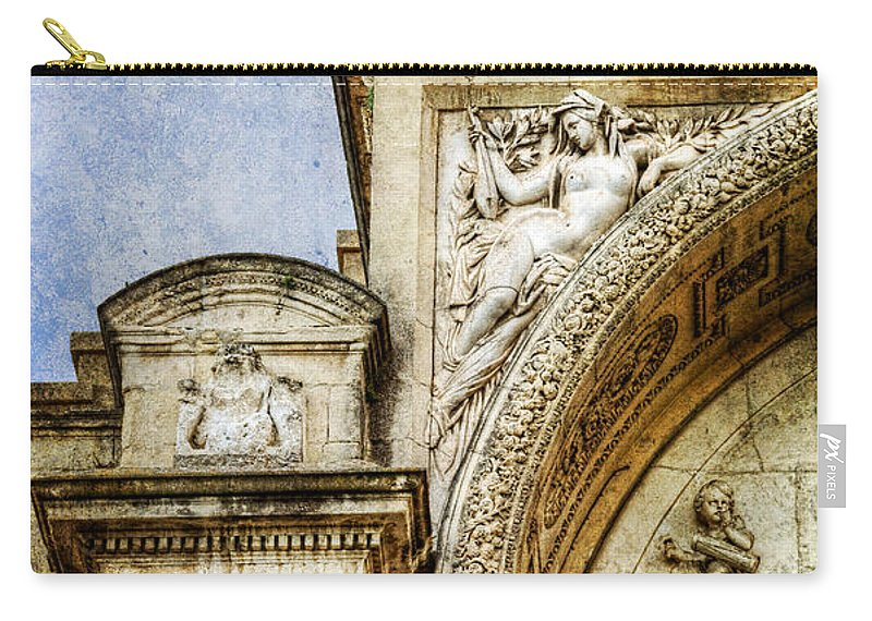 Avignon Carry-all Pouch featuring the photograph Avignon Opera House Muse 1 - Vintage Version by Weston Westmoreland