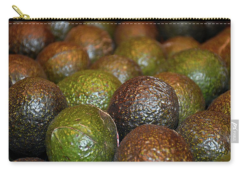Avocados Carry-all Pouch featuring the photograph Avocados by Robert Meyers-Lussier