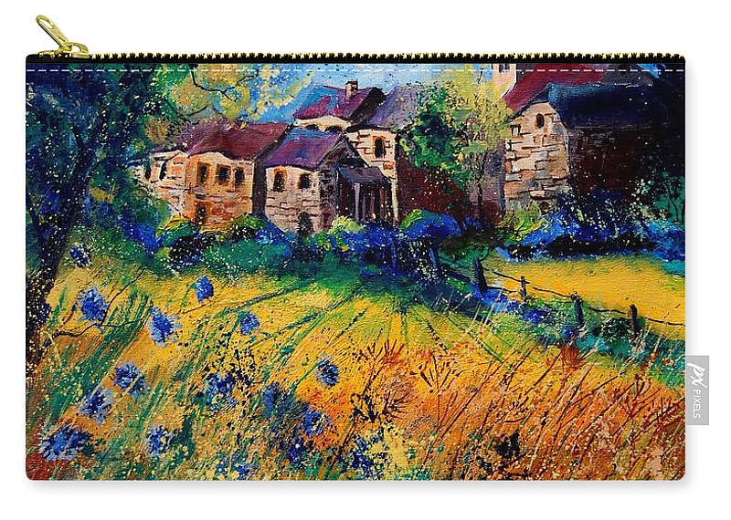 Tree Carry-all Pouch featuring the painting Awagne 67 by Pol Ledent