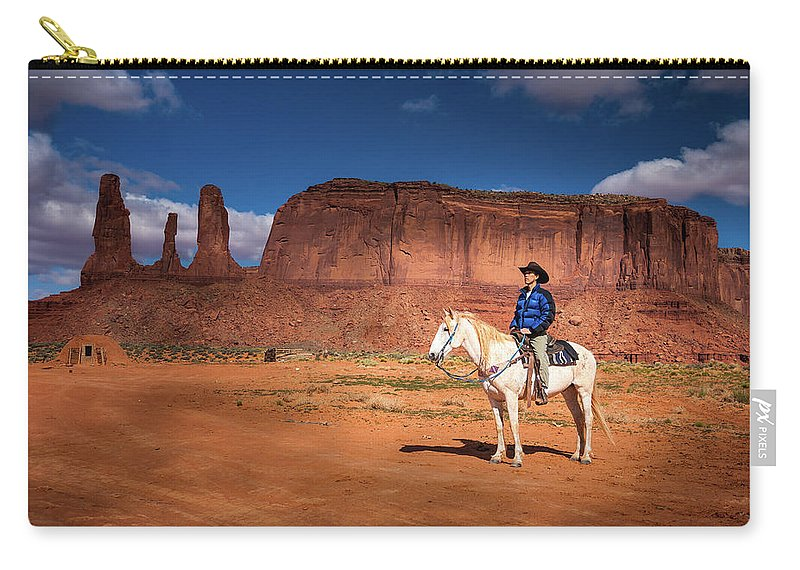 America Carry-all Pouch featuring the photograph Awaiting The Challenge by William Freebilly photography