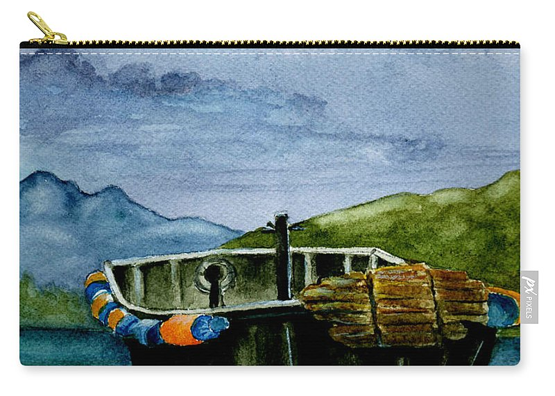 Watercolor Carry-all Pouch featuring the painting Awaiting The Season by Brenda Owen