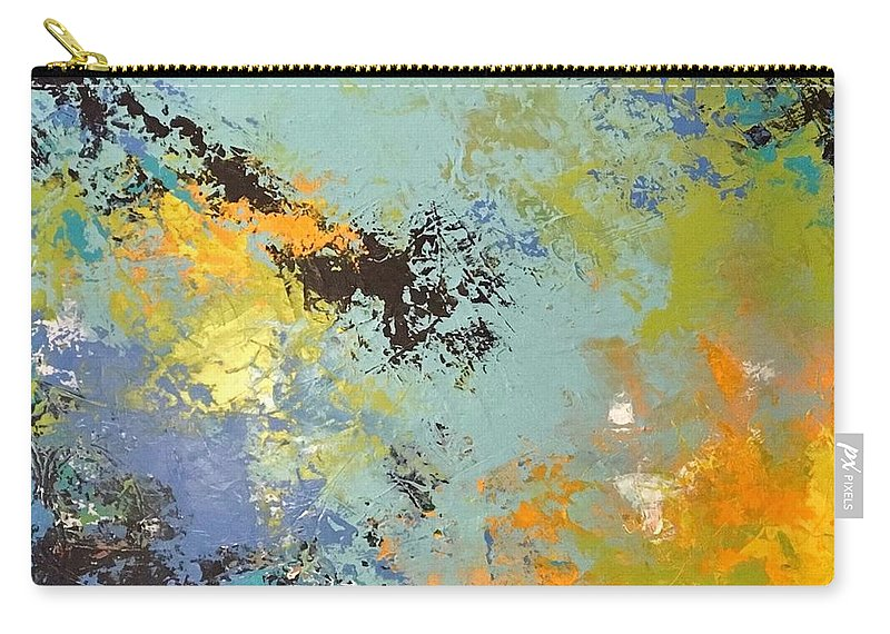 Abstract Carry-all Pouch featuring the painting Awaken The Soul by Suzzanna Frank