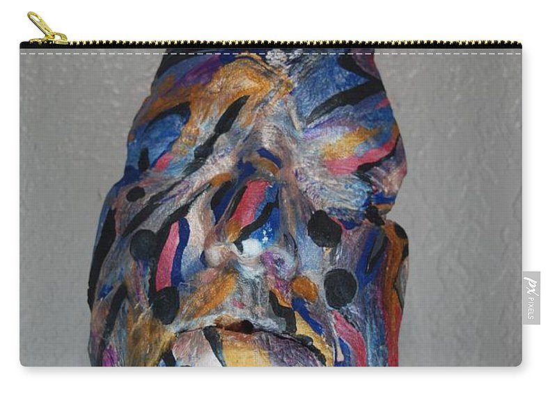 Carry-all Pouch featuring the sculpture Awakend by Subbora Jackson