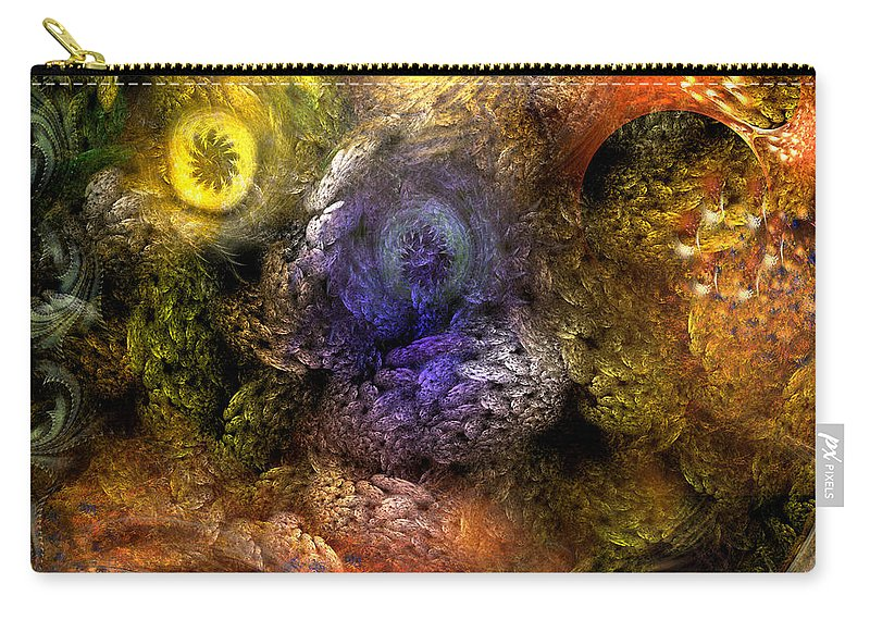 Abstract Carry-all Pouch featuring the digital art Awakening by Casey Kotas