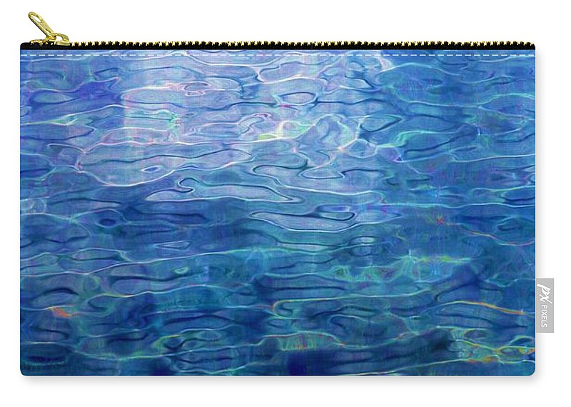 Abstract Digital Painting Carry-all Pouch featuring the digital art Awakening From The Depths Of Slumber by David Lane