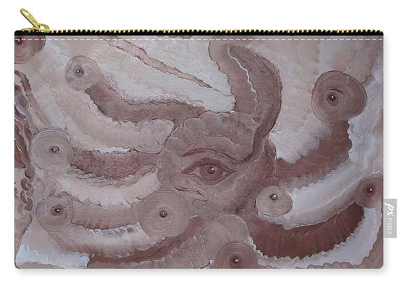 Modern Oil Painting Carry-all Pouch featuring the painting Awareness by Georgeta Blanaru
