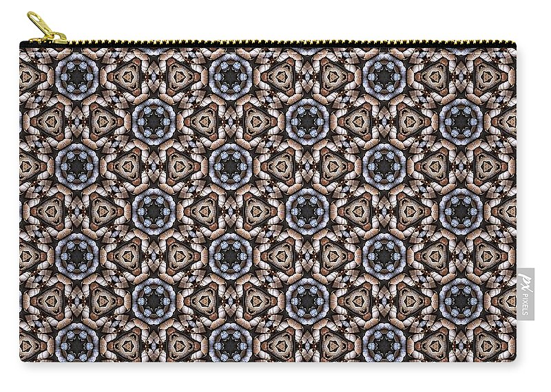 Carry-all Pouch featuring the digital art Awesome Mosaic Pattern by Kari Myres