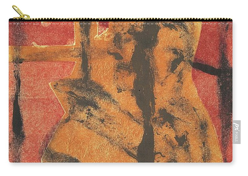 Axeman Carry-all Pouch featuring the relief Axeman 14 by Artist Dot