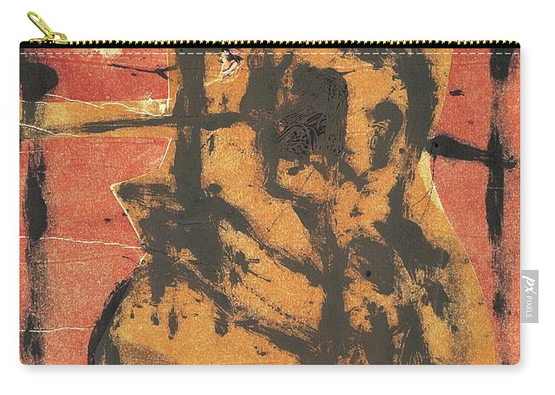 Axeman Carry-all Pouch featuring the relief Axeman 2 by Artist Dot