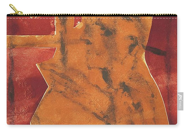 Axeman Carry-all Pouch featuring the relief Axeman 20 by Artist Dot