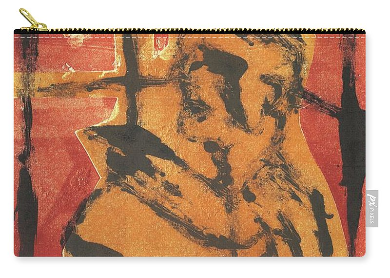 Axeman Carry-all Pouch featuring the relief Axeman 7 by Artist Dot