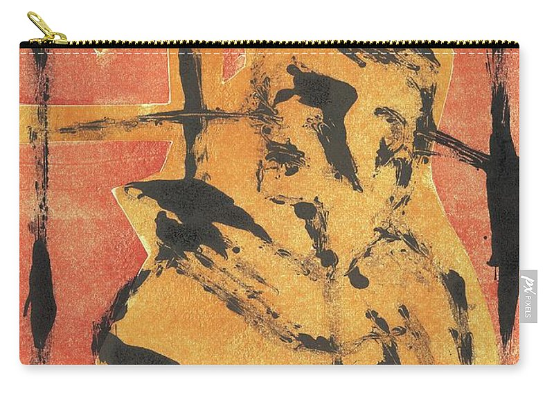 Axeman Carry-all Pouch featuring the relief Axeman 8 by Artist Dot