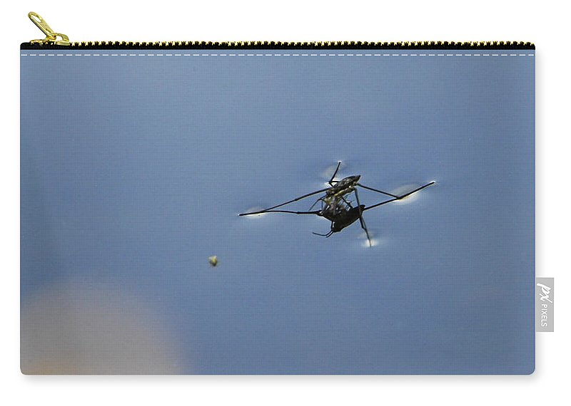 Water Skipper Carry-all Pouch featuring the photograph Aye Aye Skipper by Donna Blackhall