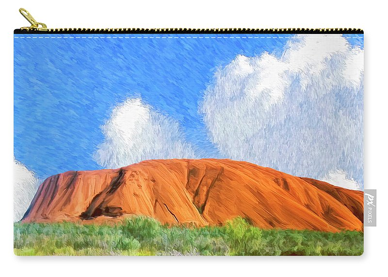 Ayers Rock Carry-all Pouch featuring the painting Ayers Rock by Dominic Piperata
