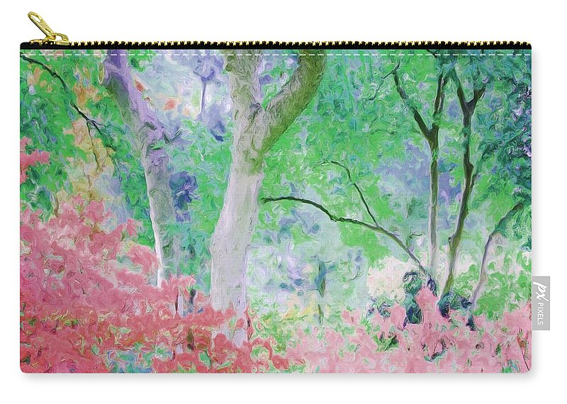 Flowers Carry-all Pouch featuring the painting Azalea Flowers And Tree Coral by Susanna Katherine