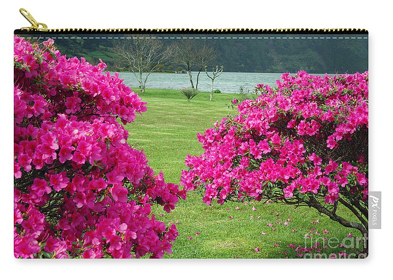 Azaleas Carry-all Pouch featuring the photograph Azaleas At The Azores by Gaspar Avila