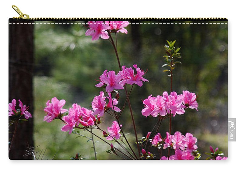 Spring Flower Carry-all Pouch featuring the photograph Azaleas II by Susanne Van Hulst