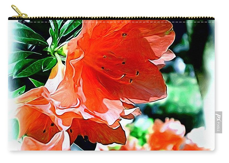Fine Art Carry-all Pouch featuring the painting Azaleas In The Spring by Patricia Griffin Brett