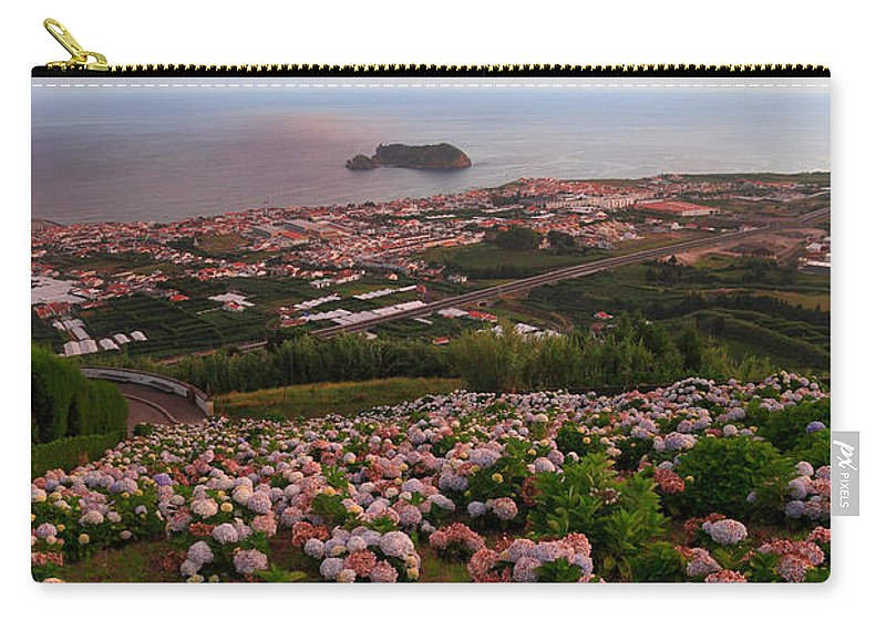 Landscape Carry-all Pouch featuring the photograph Azorean Town At Sunset by Gaspar Avila