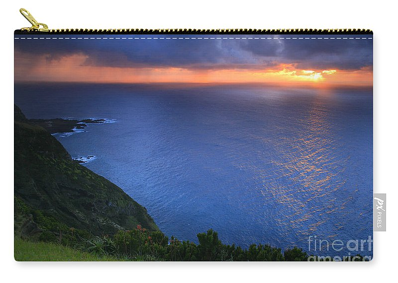 Island Carry-all Pouch featuring the photograph Azores Islands Sunset by Gaspar Avila
