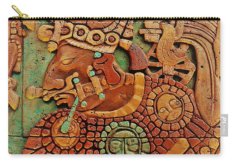 Mesoamerican Carry-all Pouch featuring the photograph Aztec by Mesa Teresita