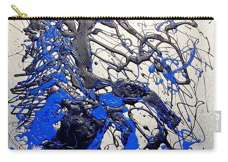 Stallion Horse Carry-all Pouch featuring the painting Azul Diablo by J R Seymour