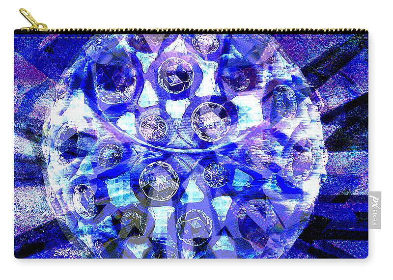 Abstract Carry-all Pouch featuring the digital art Azure Orb Of Midas by Seth Weaver