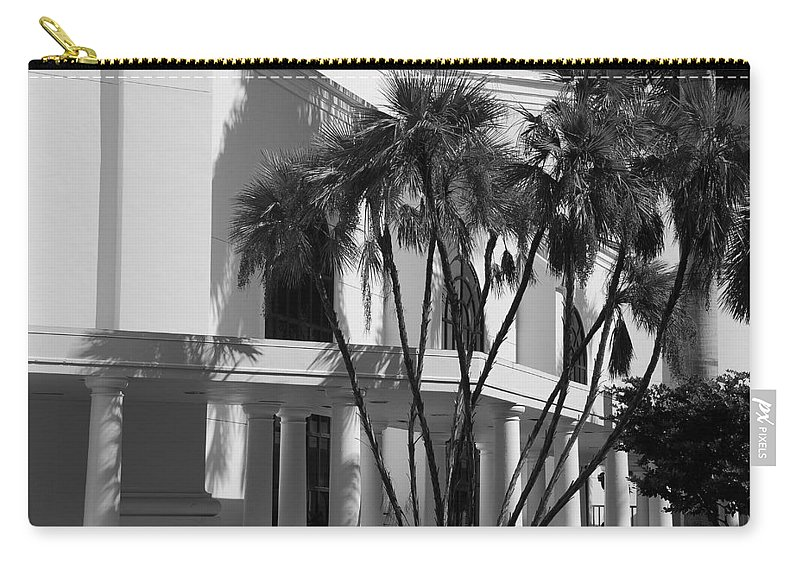 Black And White Carry-all Pouch featuring the photograph B S Post Modern..... by Rob Hans