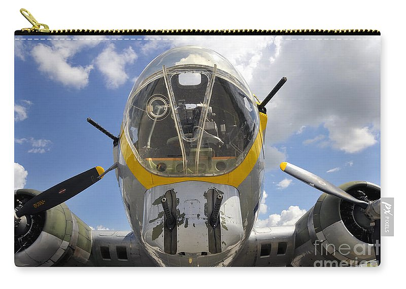B 17 Carry-all Pouch featuring the photograph B Seventeen Nose by David Lee Thompson