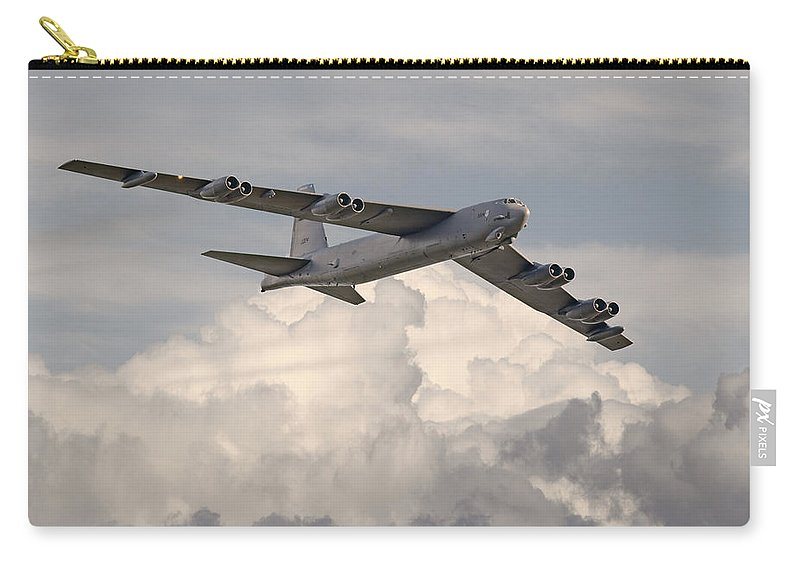 Aircraft Carry-all Pouch featuring the photograph B52-h by Pat Speirs