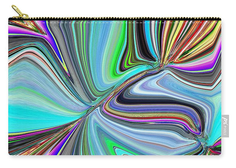Bloom Carry-all Pouch featuring the digital art Ba Da Bloom by Tim Allen