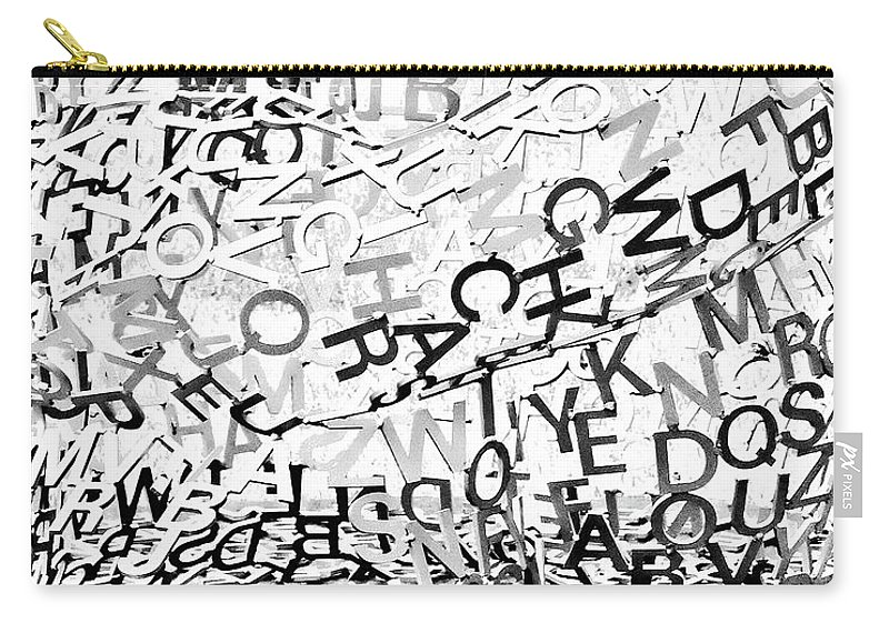 Letters Carry-all Pouch featuring the photograph Babble by Kathleen K Parker