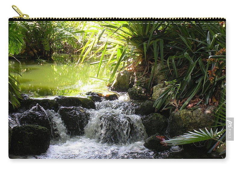 Water Carry-all Pouch featuring the photograph Babbling Brook by Maria Bonnier-Perez