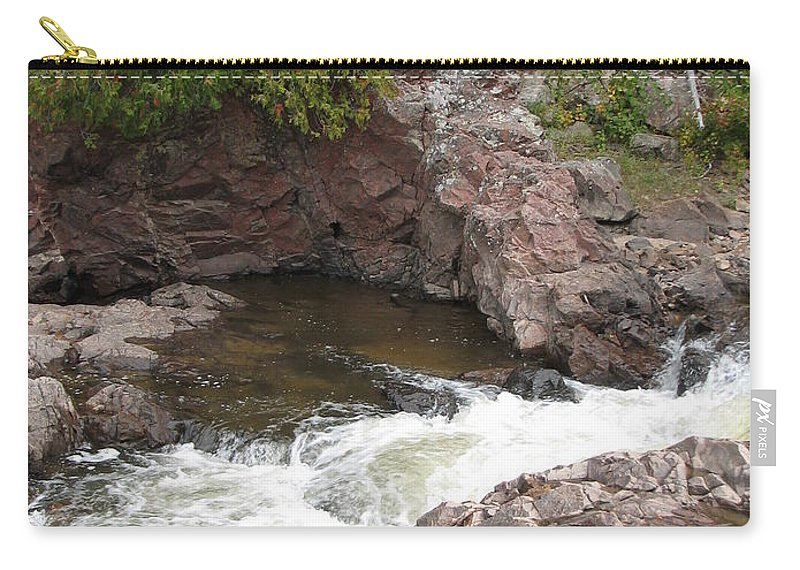 River Carry-all Pouch featuring the photograph Babbling by Kelly Mezzapelle