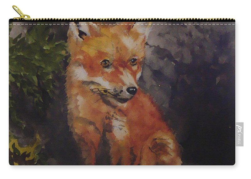 Fox Carry-all Pouch featuring the painting Babe In The Woods by Jean Blackmer