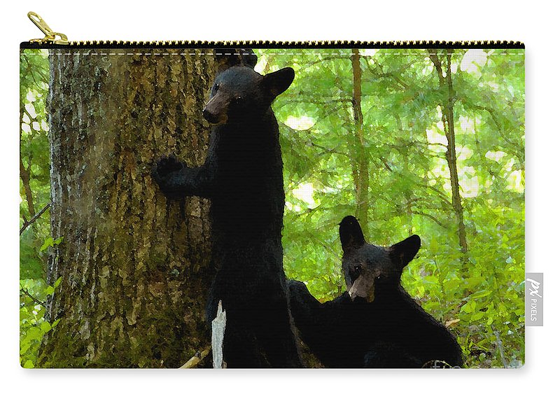 Art Carry-all Pouch featuring the painting Babes In The Wood by David Lee Thompson