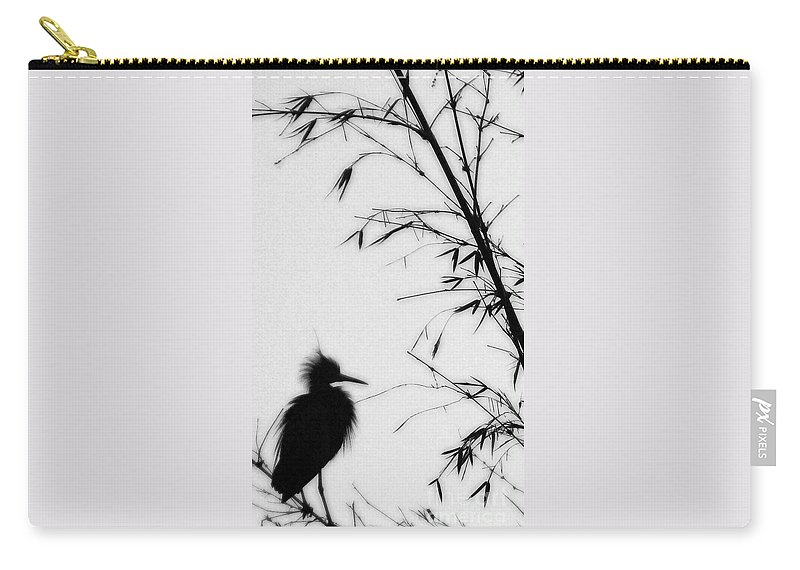 Egret Carry-all Pouch featuring the photograph Baby Egret Waits by Linda Shafer