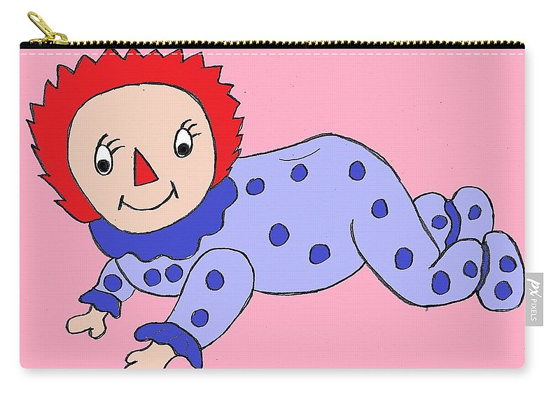 Doll Carry-all Pouch featuring the digital art Baby Rag Doll by James Back