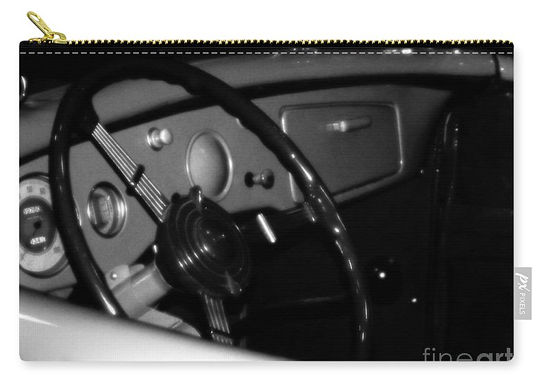 Black And White Carry-all Pouch featuring the photograph Baby You Can Drive My Car I by RC deWinter