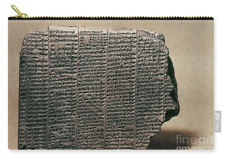 7th Century B.c. Carry-all Pouch featuring the photograph Babylonian Calendar by Granger