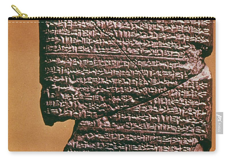 612 B.c. Carry-all Pouch featuring the photograph Babylonian Clay Tablet by Granger