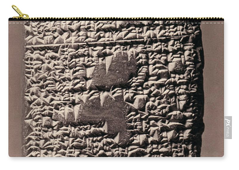 17th Century B.c. Carry-all Pouch featuring the photograph Babylonian Recipies by Granger